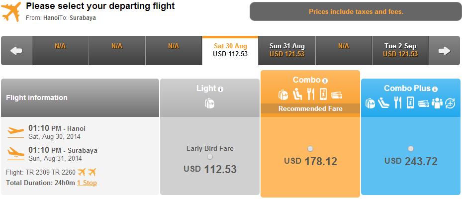 Vé máy bay đi Surabaya