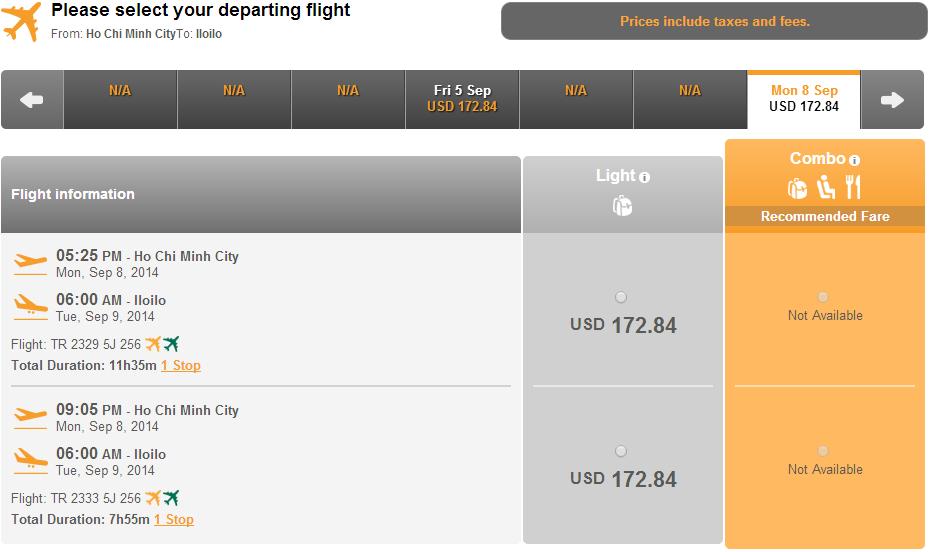 Vé máy bay đi Iloilo giá rẻ
