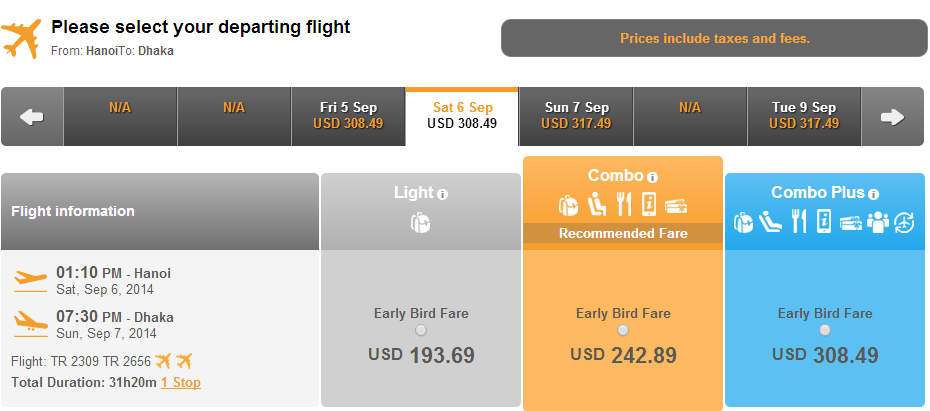 Vé máy bay đi Dhaka bao nhiêu tiền