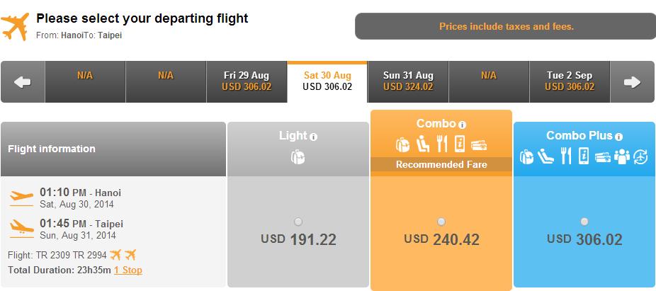 Mua vé máy bay đi Đài Loan ở đâu?