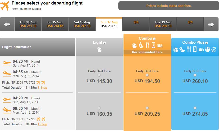 Vé máy bay đi Manila bao nhiêu tiền?