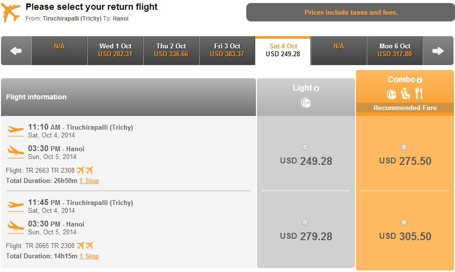 Vé máy bay giá rẻ đi Tiruchirapalli