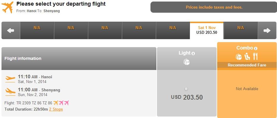 Vé máy bay đi Thẩm Dương giá rẻ