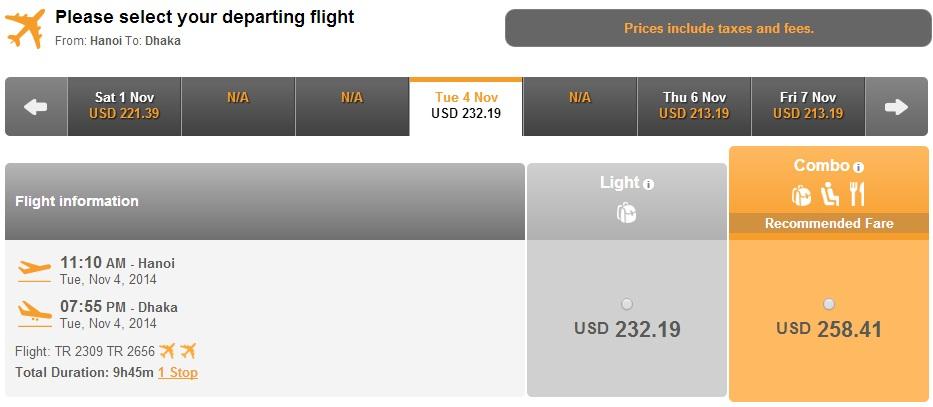 Vé máy bay đi Chittagong giá rẻ