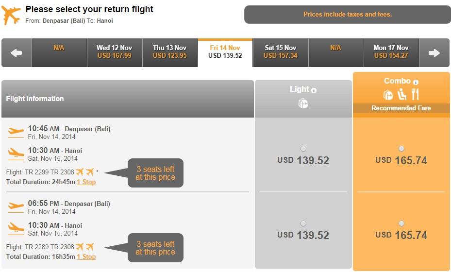 Vé máy bay Hà Nội đi Bali giá rẻ