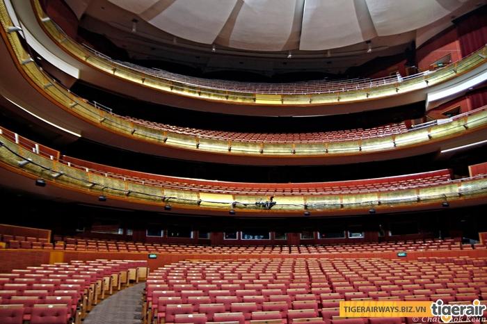 Một góc bên trong khán phòng nhà hát Esplanade