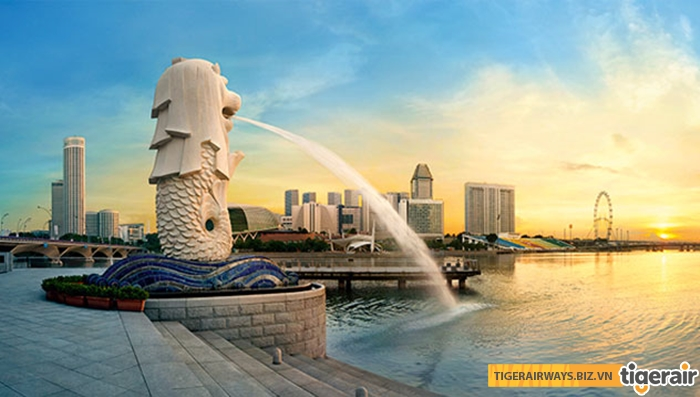 Tượng Merlion - Singapore