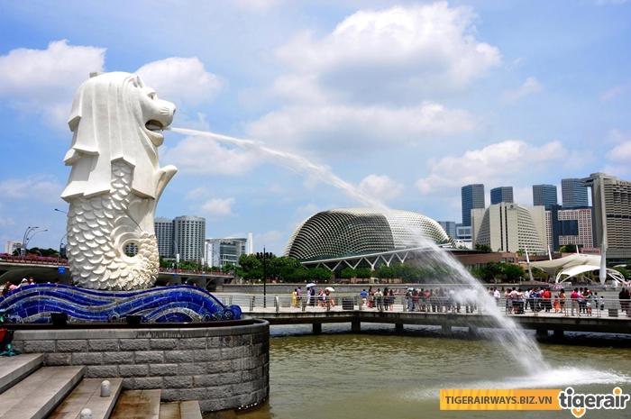 Tượng Merlion - biểu tượng Singapore