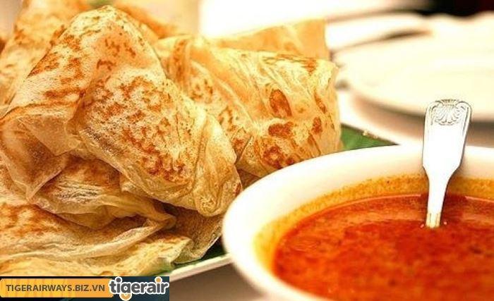 Bánh Roti prata và nước sốt