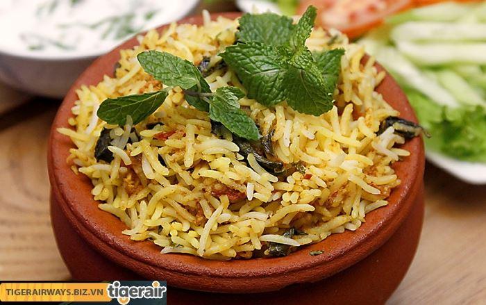 Cơm beriane là món ăn truyền thống ngày Tết ở Ấn Độ