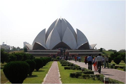 Ngôi đền Hoa sen (Lotus Temple) ở thủ đô New Delhi