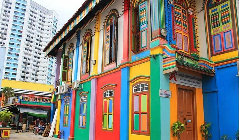 Những dãy nhà ở khu phố Little India